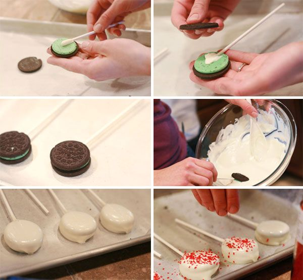 Easy Peasy...make your own cookie pops with store bought cookies
