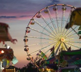 The Fairgrounds at Erie county fair in Hamburg, NY