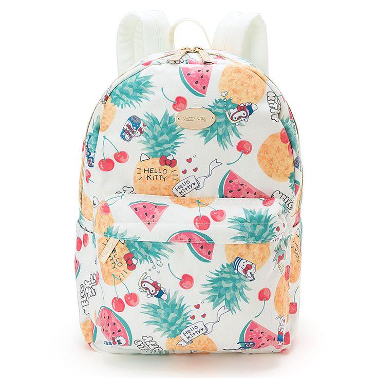 Hello Kitty Backpack (Denim & fruit)