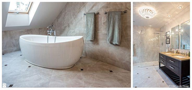 Łazienka na piętrze - New Hamptons Residence - zdjęcie od DeCandia Design - Łazienka - Styl Art- deco - DeCandia Design