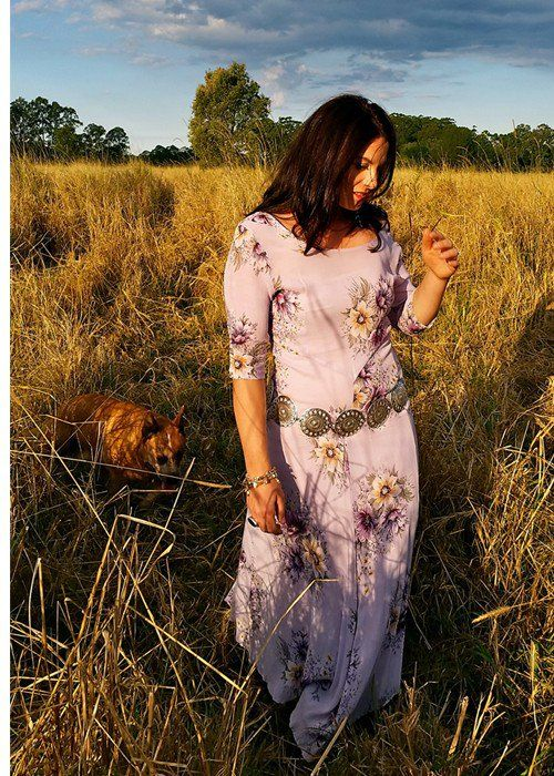 Marrika Nakk Vintage Dress via Bella Star Western Outfitters. Click on the image to see more!