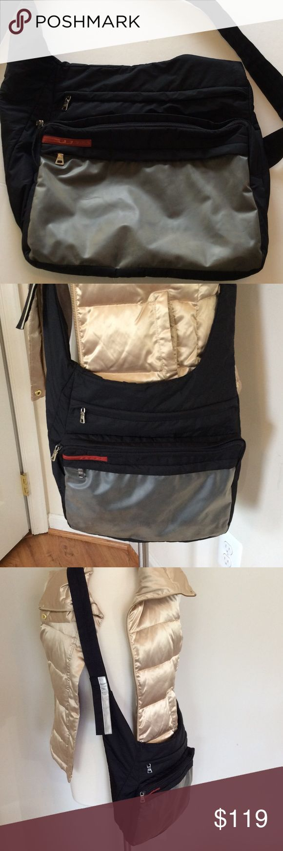 Prada Messenger Bag | Excellent Condition Authentic, lightweight, hip bag. Great quality at a great price. Prada Bags Crossbody Bags