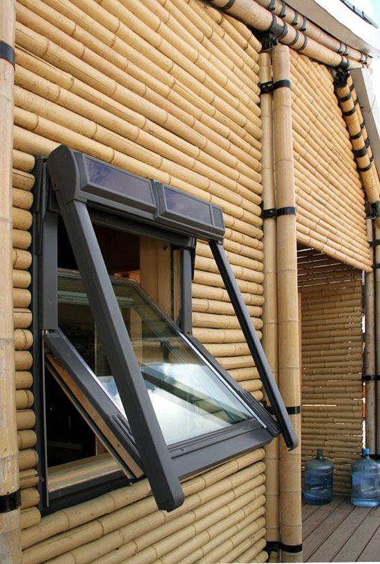 bamboo house at solar decathlon