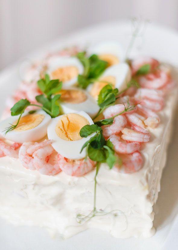 Smörgåstårta swedish sandwich cake