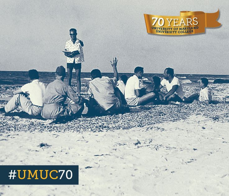 #Throwback Thursday to 1958 when this UMUC Europe class met on the North African shore of the Mediterranean Sea.