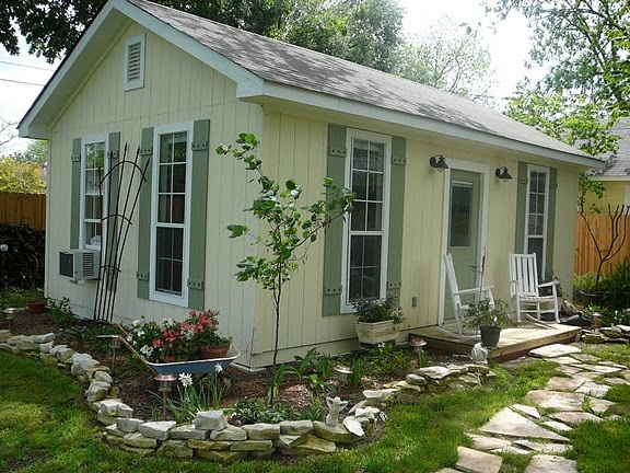 """Cute little shed turned """"house."""" Would be cute for a guest house or granny flat."""