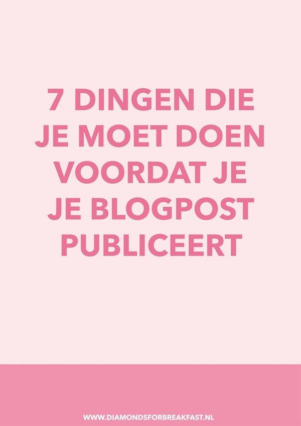 Als je wilt dat je artikelen goed gelezen worden, is het belangrijk dat ze leesbaar, aantrekkelijk en SEO-vriendelijk zijn. Zorg er daarom voor dat je deze 7 dingen áltijd doet voordat je een nieuwe blogpost publiceert.