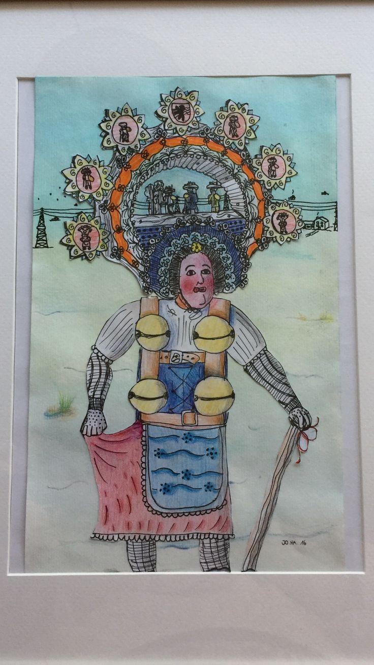 Silvesterchlaus, gemalt von Joscha, 11 Jahre