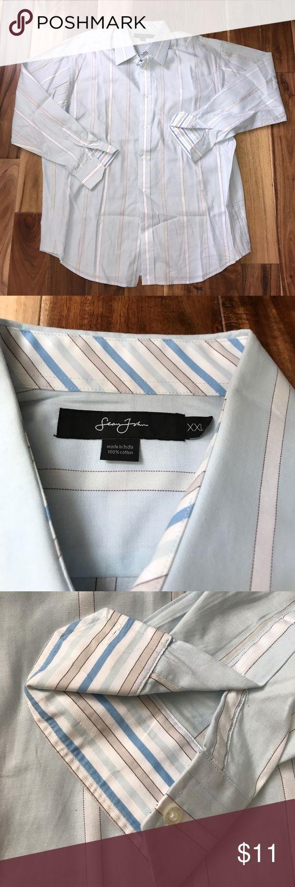 Men's dress shirt Sean John Sz XXL Only worn once. Sz XXL. By Sean Jean. In excellent condition, no flaws. Sean John Shirts Dress Shirts