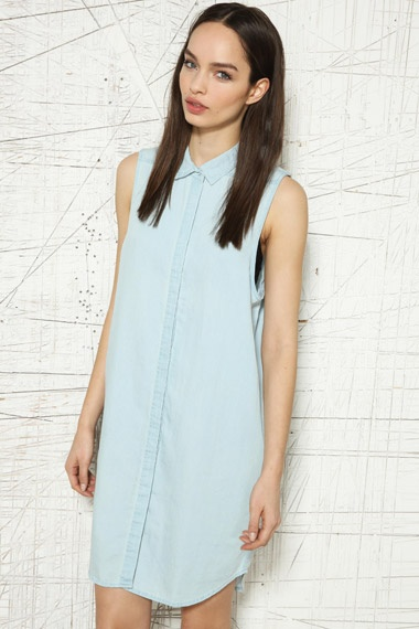 Cheap Monday Colleen Sleeveless Shirt Dress at Urban Outfitters