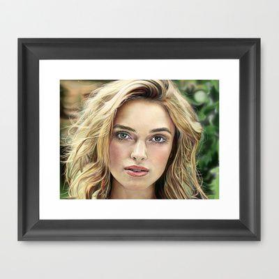 Luthien Framed Art Print by Veronica  Kokoreva - $37.00