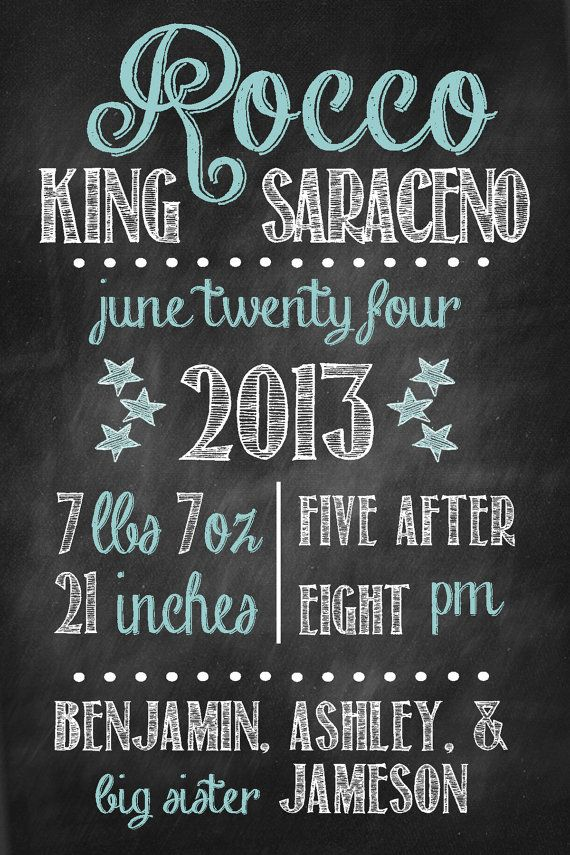 1000 images about Chalk board ideas – Chalkboard Birth Announcement