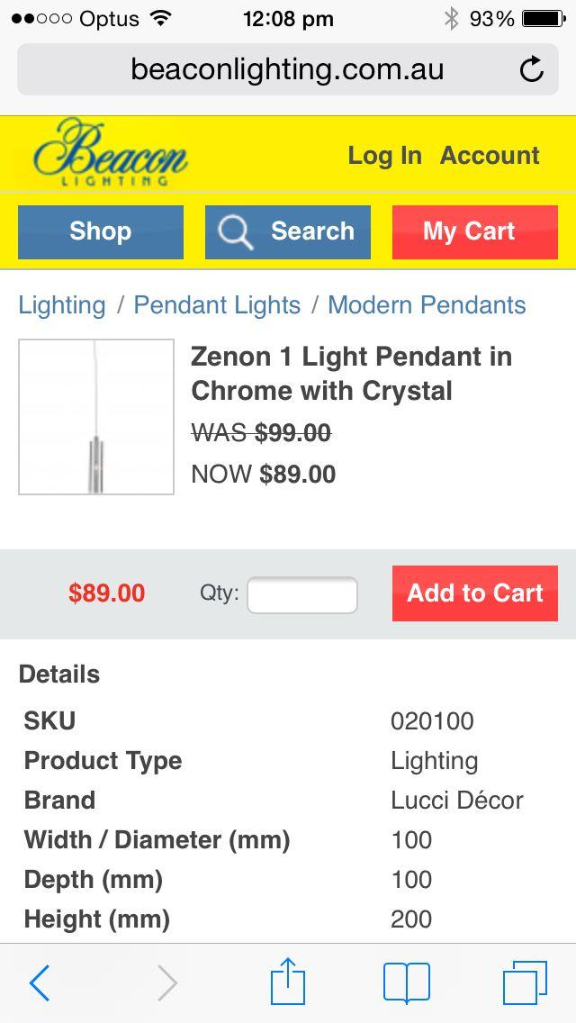 Beacon lighting pendant crystal lights