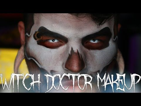 Witch Doctor Halloween Makeup Tutorial | Jordan Hanz | 31 Days of Halloween - YouTube
