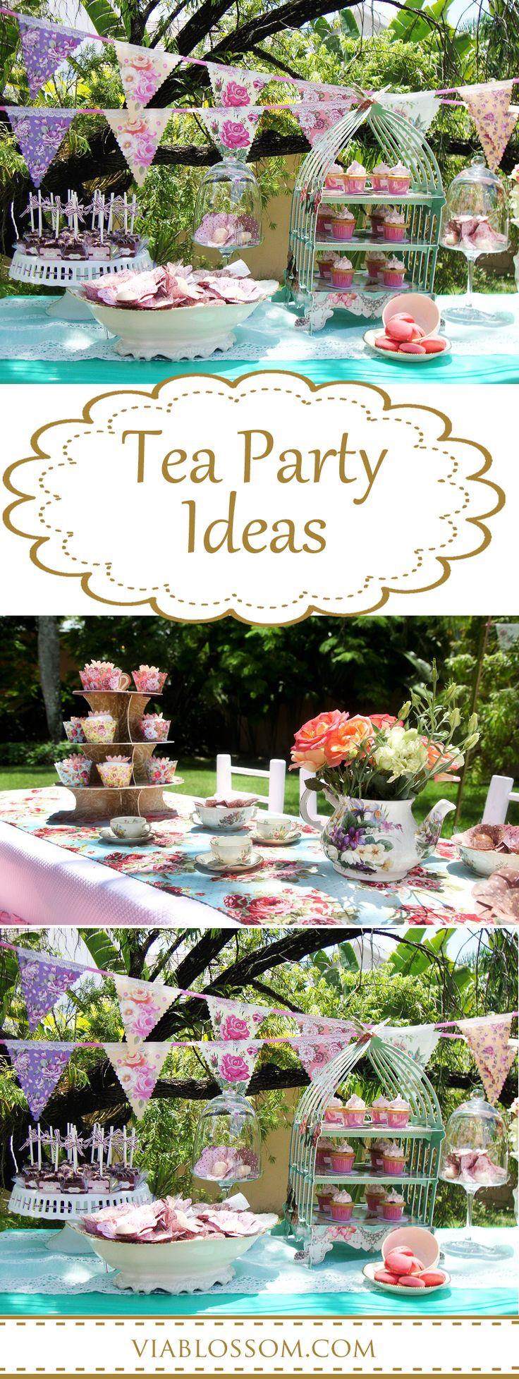 scrumptious tea party via blossom tea party ideas