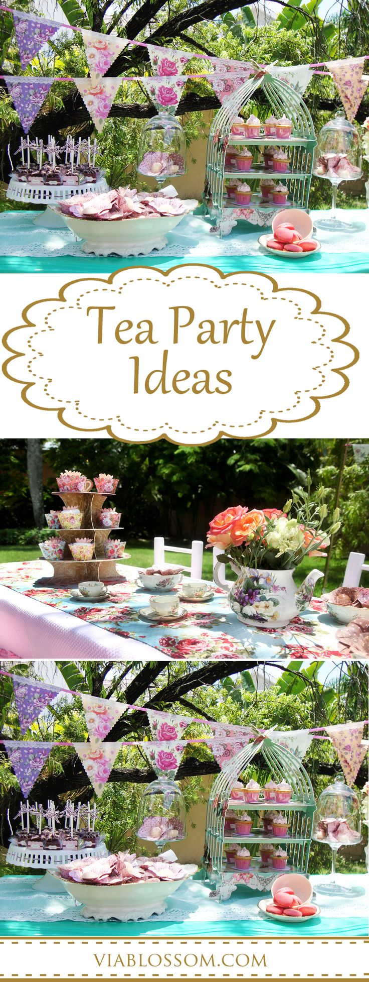 Tea Party Ideas for a girl birthday party, a bridal shower or a baby shower!