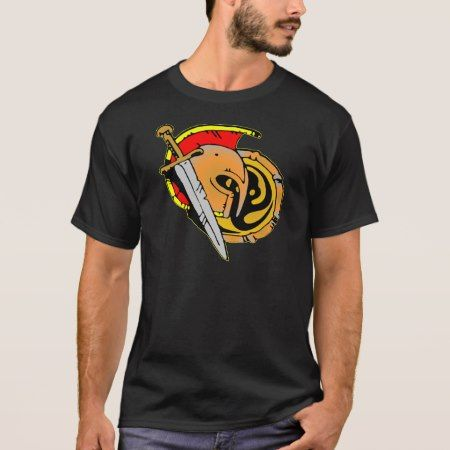 Helmet, Sword, Shield Spartan, Roman, Soldier T-Shirt - click/tap to personalize and buy