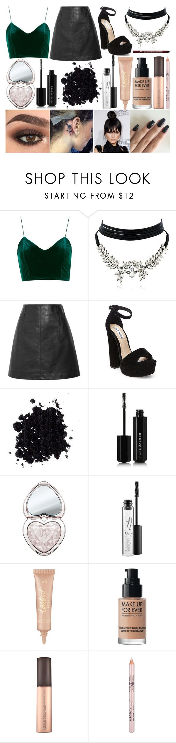 """""""Red Carpet"""" by susanna-trad on Polyvore featuring WithChic, Chloé, Steve Madden, Marc Jacobs, Too Faced Cosmetics, MAC Cosmetics, tarte, MAKE UP FOR EVER and Charlotte Russe"""