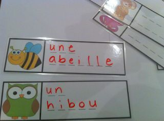 Primary French Immersion Resources: Je joue avec les mots - Matching/Fill in the blanks