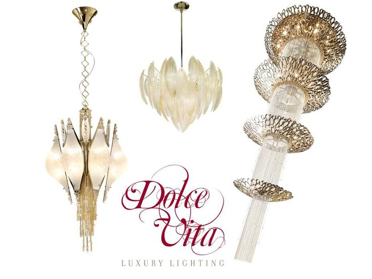 The Best Sellers Collections by Dolce Vita Luxury Lighting. Chrysalis, Crystal Moon and Paradise