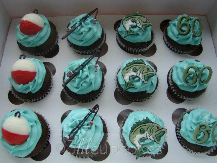 Fly Fishing Cupcakes