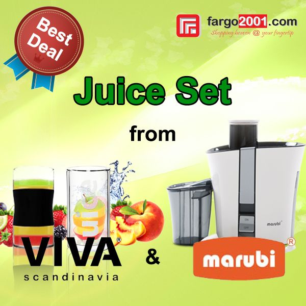 "Anda suka meminum jus setiap hari? Jangan lewatkan deal terbaik dari kami untuk "" Juice Set "" hanya di fargo2001.com ! http://fargo2001.com/index.php?route=product%2Fsearch&search=juice"