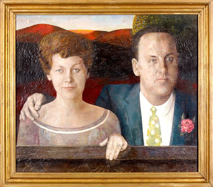"Ross and Marion Woodman were lifelong friends and mentors of Chambers. Jack Chambers, ""Portrait of Marion and Ross Woodman,"" 1961, Collection of Marion and Ross Woodman."