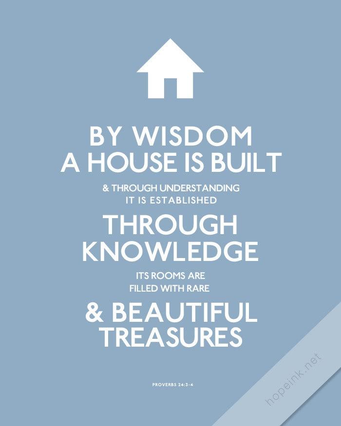 Scripture Art Print Wisdom House Modern Design Bible