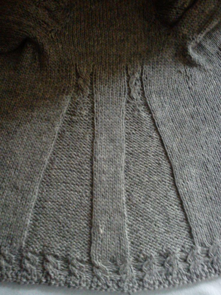 Detalle de espalda de un abrigo infantil