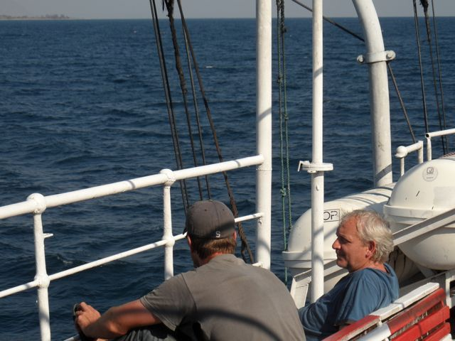 There is time for a long #conversation and to #reflect on #life with others while on board the #Ilala