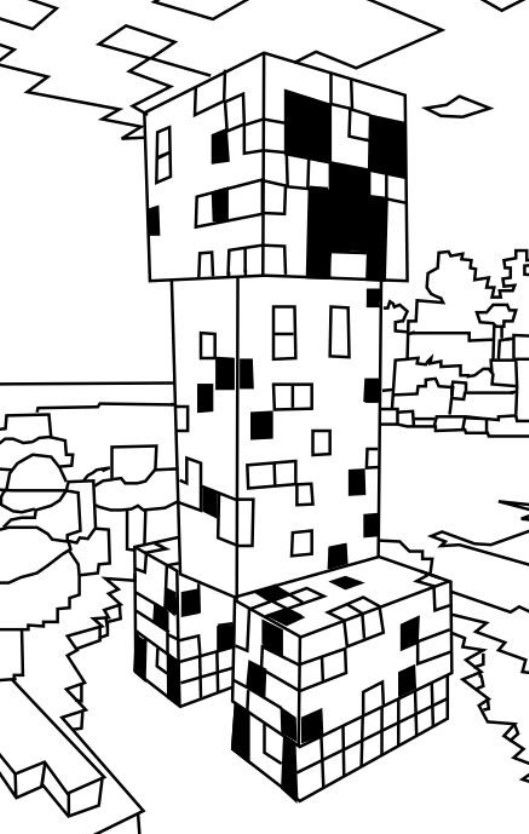 14 best minecraft ausmalbilder images on pinterest for Minecraft creeper coloring page