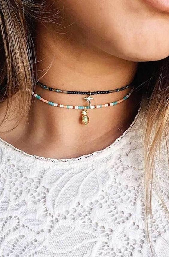 Choker, Necklace, Jewelry, Choker Necklace, Gold, Anklet, Layered Necklace