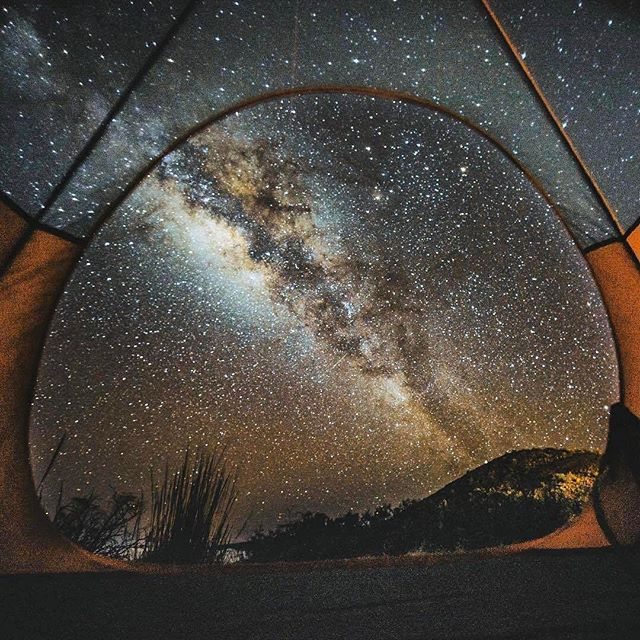 This is why tents aren't made with a solid roof. PC: @_fabiozingg at Mauna Kea