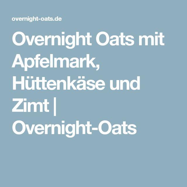 Overnight Oats mit Apfelmark, Hüttenkäse und Zimt | Overnight-Oats