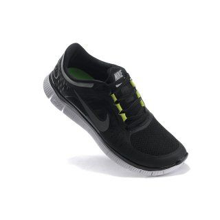 Billig unisex Fake 2012 Menn Nike Free Run+ 3 Svart