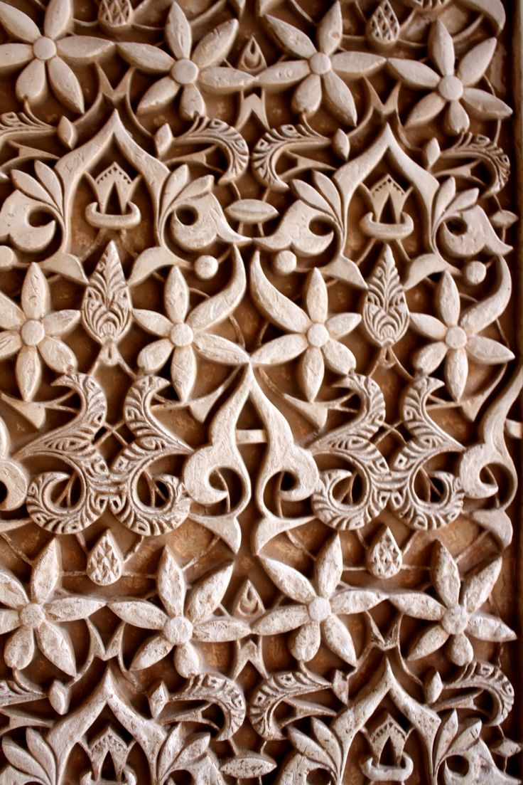 Detail, Nasride Palace Sculptures, Alhambra, UNESCO World Heritage Site, Granada, Andalucia, Spain, Lámina fotográfica. http://www.costatropicalevents.com/en/costa-tropical-events/andalusia/cities/granada.html