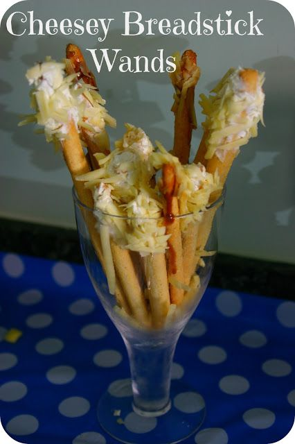 Mummy Mishaps: A Room On The Broom Birthday Party Cheesey Breadstick wands