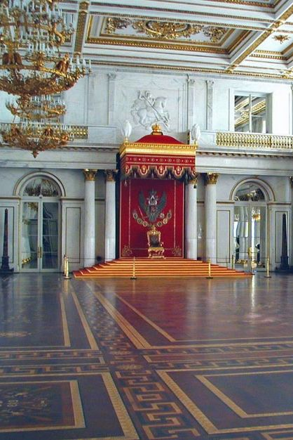 St. George Hall (large throne room), Winter Palace, The Hermitage, St. Petersburg, Russia