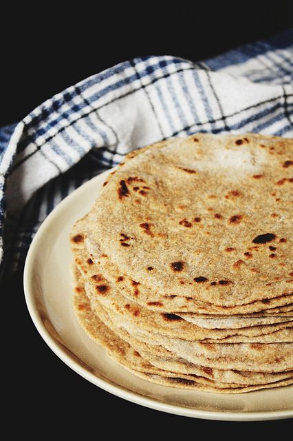 Homemade Whole Wheat Flour Tortillas (no press needed)...via Here Wow....