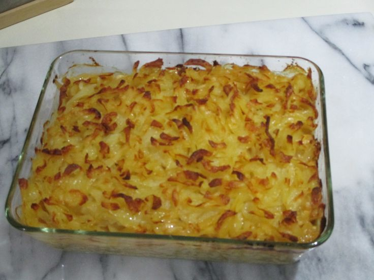 Putenschnitzel in Käse - Lauch - Sauce mit Rösti überbacken 1