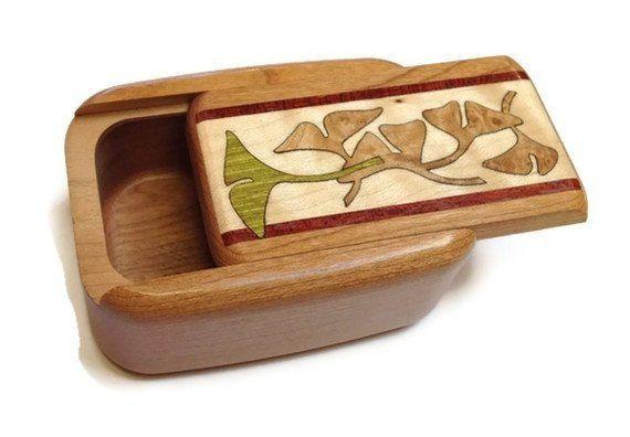 Heartwood Creations - Secret Box - Ginko Inlay