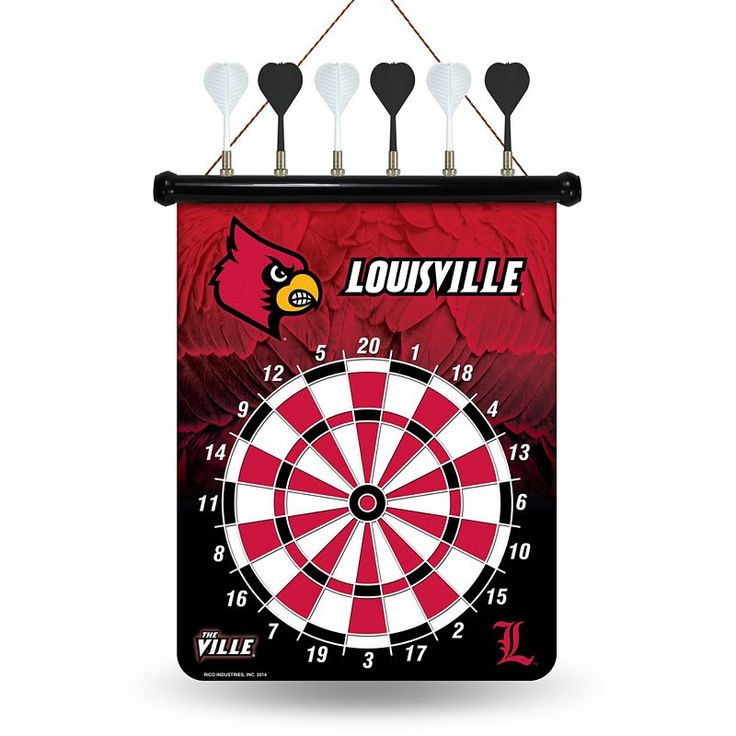 Louisville Cardinals Magnetic Dart Board, Multicolor