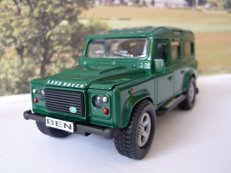 Personalised Plate Green 4x4 Land Rover Defender Boxed