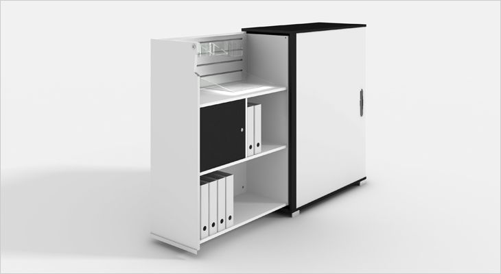 Genese kontorreol, office cabinet, book case, skab
