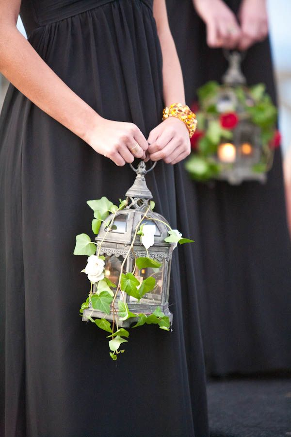 black, bridesmiad, candle, detalis, green, lantern, medieval, modern, red, roses, unique, vines,