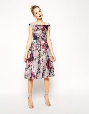Enlarge ASOS Beautiful Floral Printed Midi Prom Dress