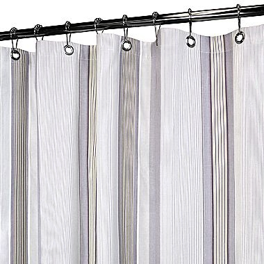 Park B Smith Park B Smith Plum Stripe Shower Curtain Purple Plum White Shower Curtains