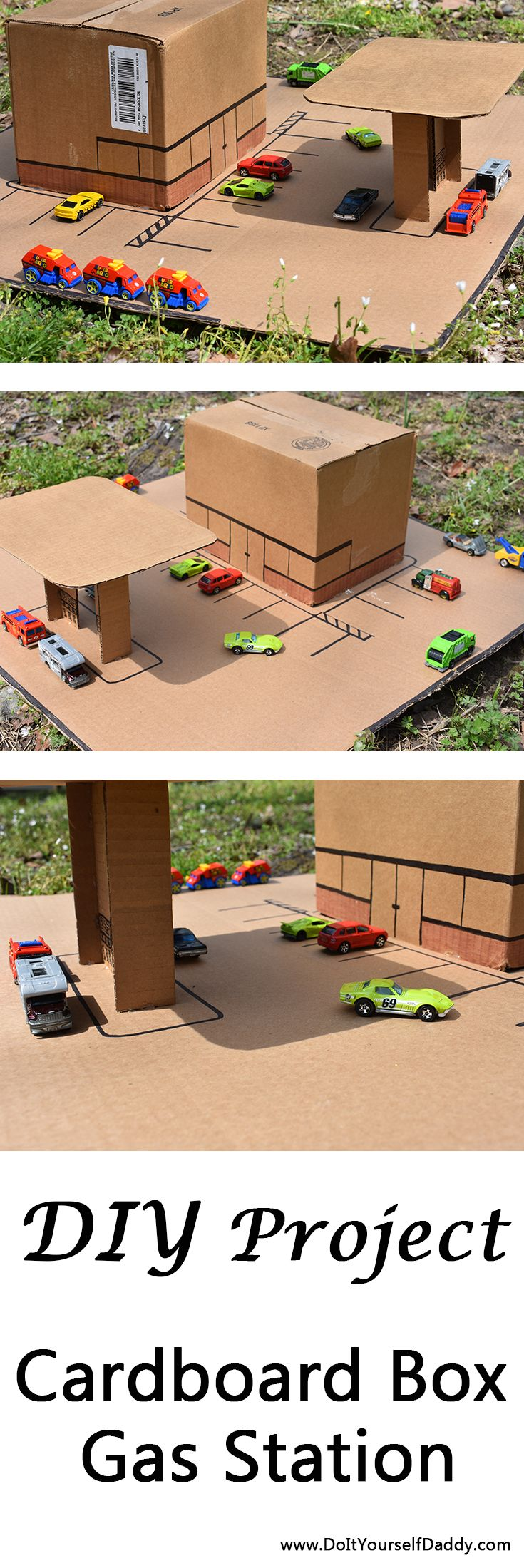 Your kids will love this! Easy to build and lots of fun.  .  .  .  #diy #model #hotwheels #matchbox #playtime #fun #imagination #toys #kids