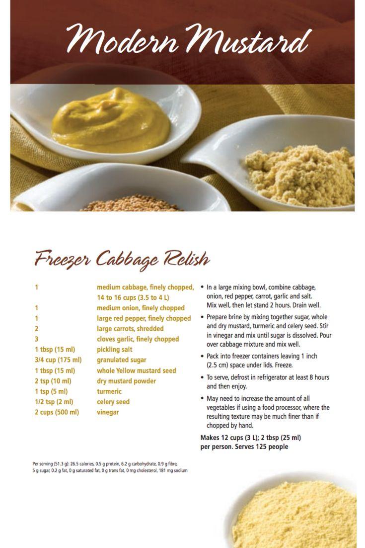 Freezer Cabbage Relish | Modern Mustard