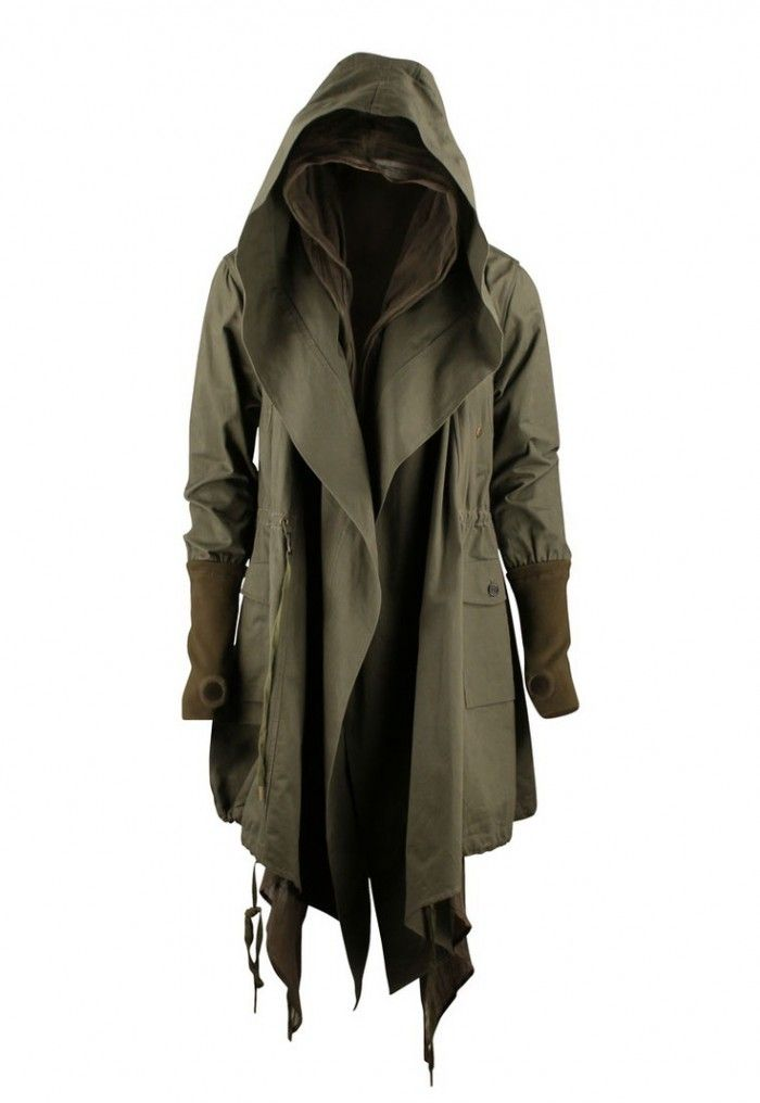Green military style coat